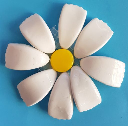 3D White Flower
