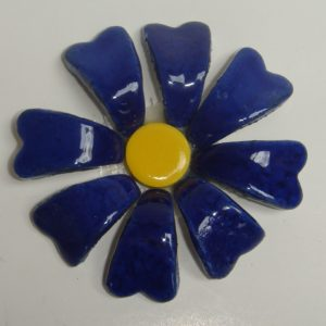 BLU-015 3D Flower Small Delft