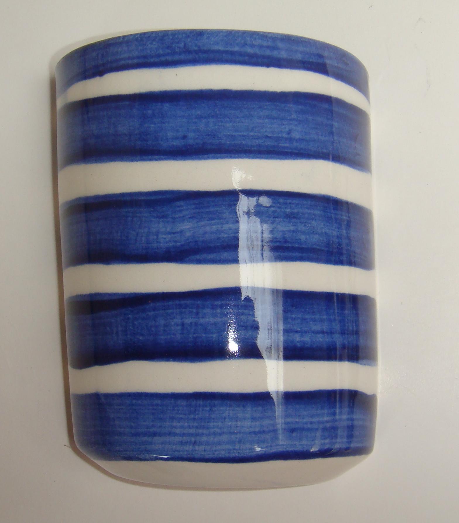 BLU--017 Half Vase Broad Striped