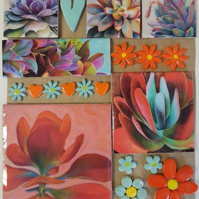 Combo Cards Orange Succulent Large