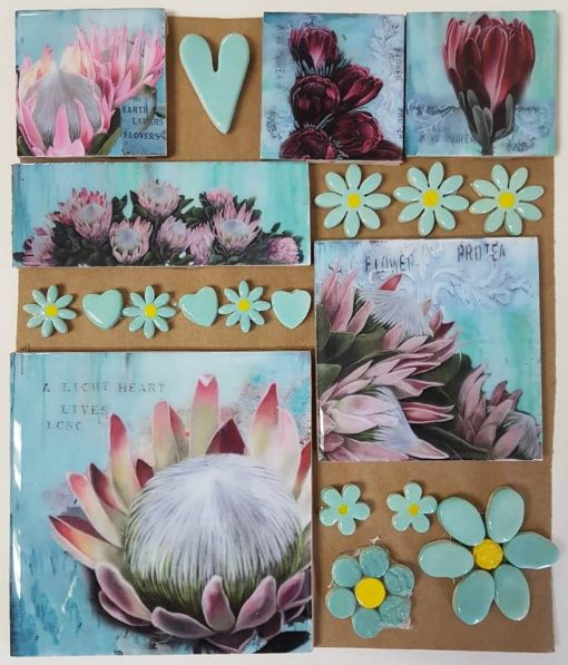Combo Cards Pink Protea Large