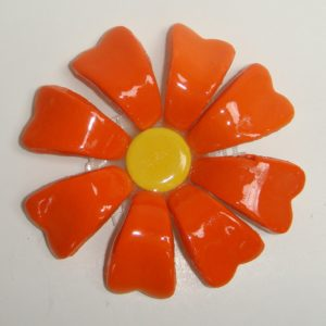 BLU-015 3D Flower Small Orange