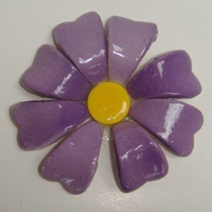 BLU-015 3D Flower Small Purple