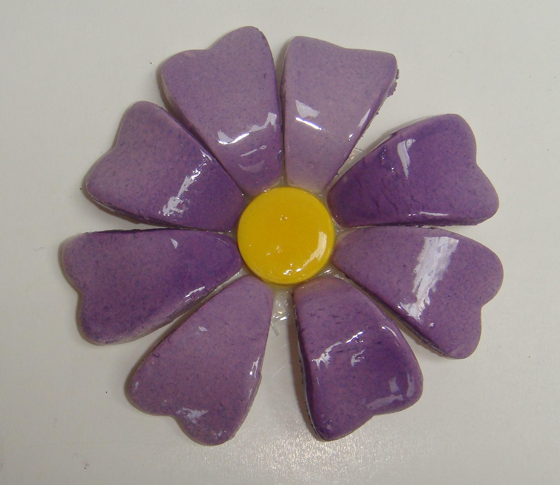 BLU-015 3D Flower Small Purple