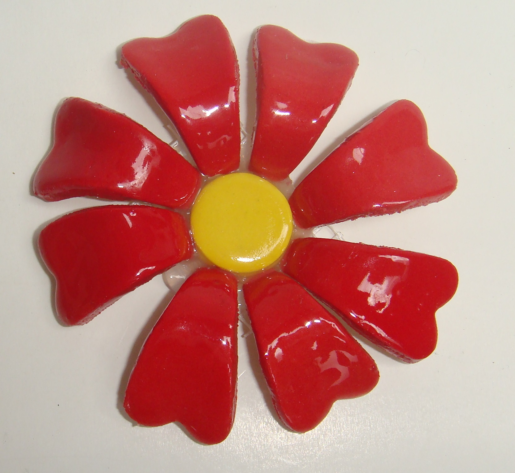 BLU-015 3D Flower Small Red