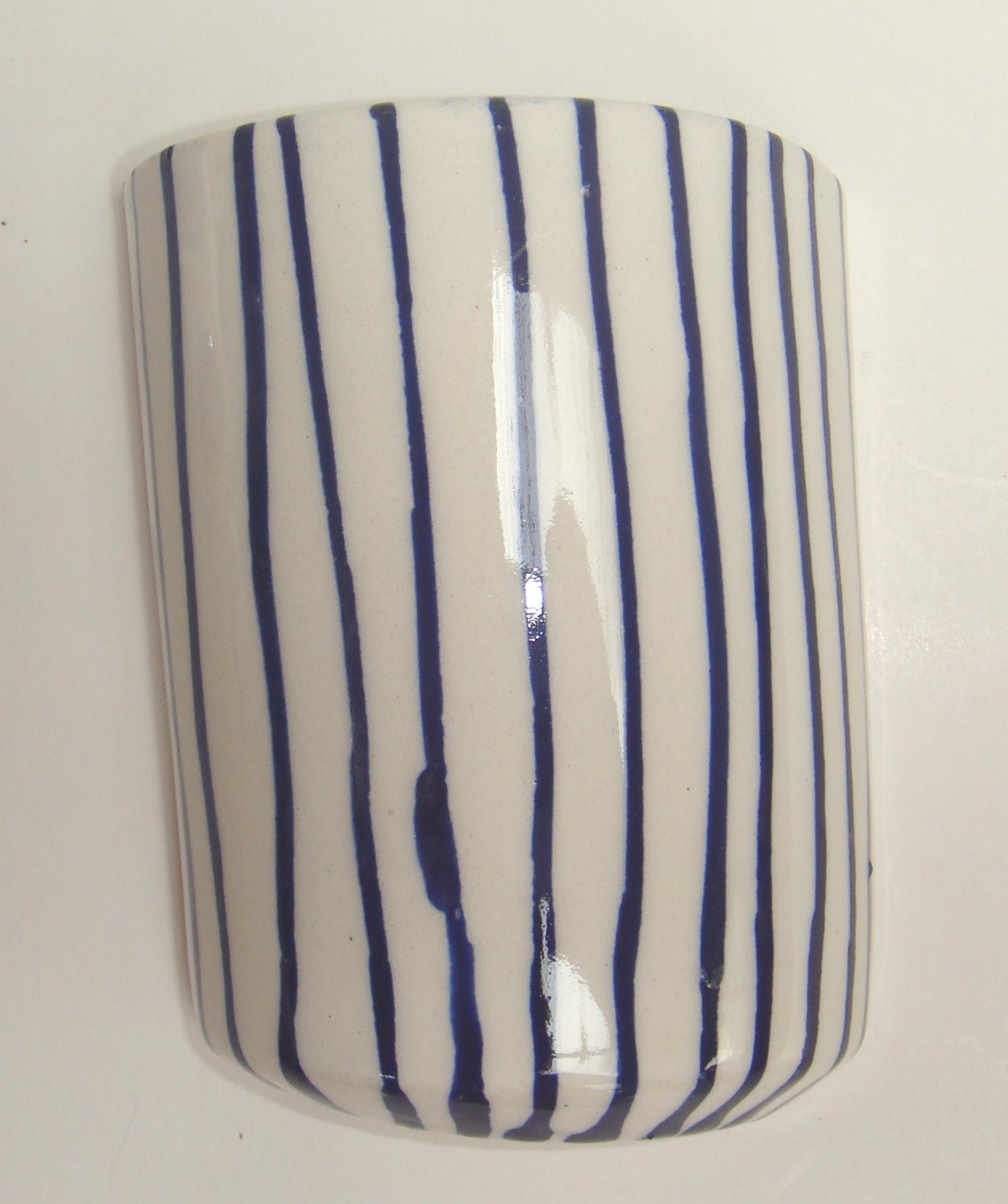 BLU-017 Half Vase Thin Stripe