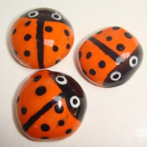 BUG-001 Ladybugs Large Orange