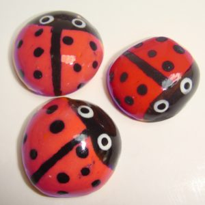 BUG-001 Ladybugs Large Red