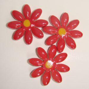 FLO-003 Daisy Medium Red