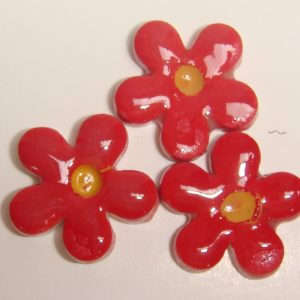 FLO-020 Happy Flower Small Red