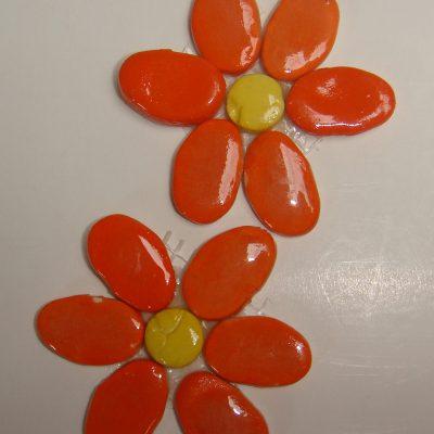 Flo 023o Magnolia Flower Orange X2 The Clay Club