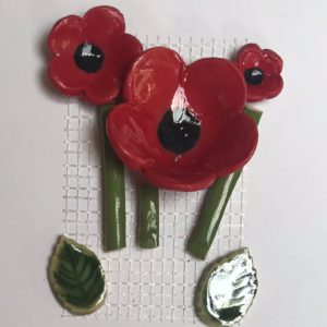 MEM Poppies on Mesh