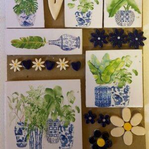 Blue Botanical Large