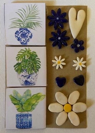 Blue Botanical Medium